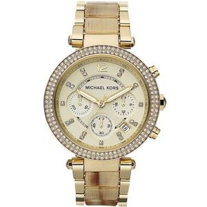 NWT MICHAEL KORS CHAMPAGNE PARKER WATCH